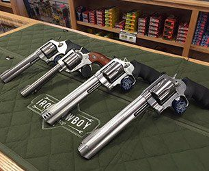 left 500 S&W, 460S&W, 454 Casull and a 44 mag