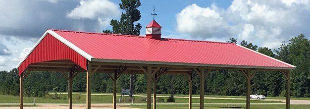 Custom Pole Barns Roof Only Barns Wiggins Ms